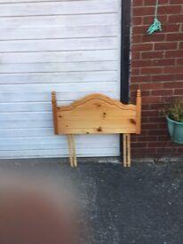 Single bed wooden headboard