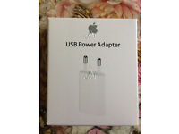 Job Lot 50x Genuine Apple Mains Adapter Charger USB Wall Plug 2-Pin with Retail Packaging**MD813ZM/A