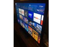 55 inch tv with built in freeview and now tv box excellent condition very slim tv