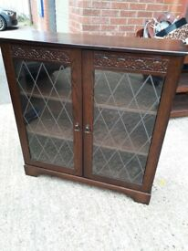 Glass front Cabinet. Bookcase cupboard