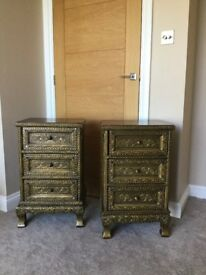 Pair Stunning Bali handmade side tables