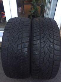 2x 225 50 R17 Winter/Snow Tyres set of 2 M/S M+S pair of tires Dunlop Winter Sport 3D