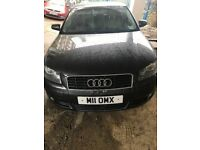 Audi A3 2.0TDI Diesel Automatic, dark gray colour, category C , price 1100£ , phone 07737847089