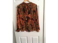 Ladies Paisley Pattern Blouse, Size 16.