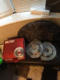 Brake Discs Eicher 2 pieces (Brand New) For Bmw