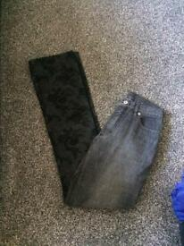 Marccain Jeans 1/2 mesh leg N1
