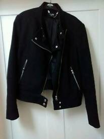 Cotton bikers coat/jacket size 10
