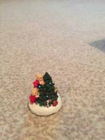 Bears decorating tree Christmas ornament