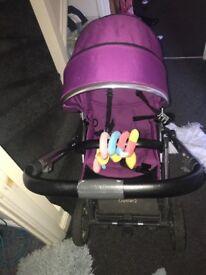 Beautiful pushchair in purple