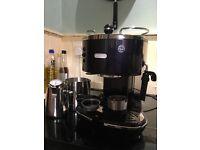 Delonghi icona coffee machine (aubergine purple, rare now discountinued colour)