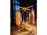 Boxing bag frames