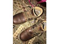 Caterpillar boots size 8