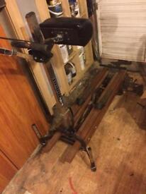 Retro ski trainer/exercise machine