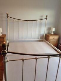 King size metal bed frame with divan base