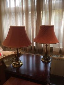 Brass Table Lamps x 2