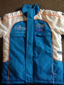 FORD V8 SUPERCAR FULLY LINED JACKET-EXC COND BLUE / WHITE $50 Riverton Canning Area Preview