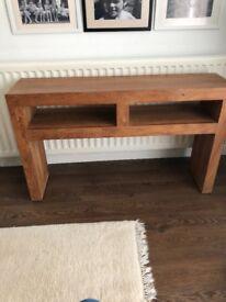 Acacia wood console table M&S