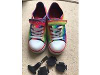 Rainbow Heelys Two wheel system