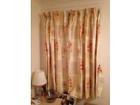 5 sets of lined curtains