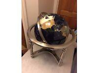 Ceramic and gem stone world globe