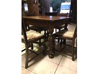 Antique Stunning oak dining table and chairs