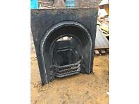Iron cast fireplace