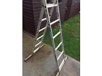 Combination step ladders