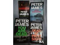 Peter James books 70p-£1.50 each