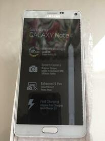 Samsung galaxy note 4 32GB white conditions new