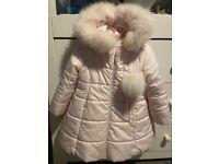 Gorgeous Bambino girls pink fur coat