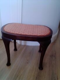 Period stool, reupholstered and clean