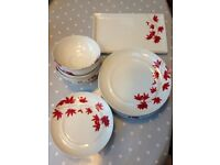 Plates and bowls Debenhams Fall Collection porcelain