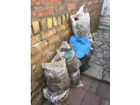 9 bags of mixed clay soil spoi