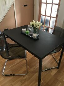 Dinning table and modern chairs