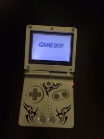 Game Boy Advance SP Tribal Limited Edition Silver Handheld System