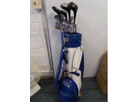 13 golf clubs with carrying bag