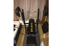 Golds Bench Press & Dumbbells with 105kg cast iron weights