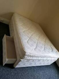 Double Divan with ortho mattress and 2 drawers