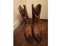 Loblan 2 tone brown cowboy boots, SIZE UK 11