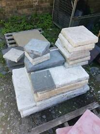Job lot of riven concrete paving slabs **ex display**