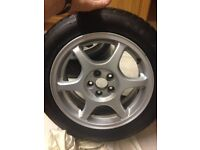 Toyota Avensis Snow tyres on alloy wheels