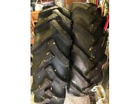 Pair rear tractor tyres
