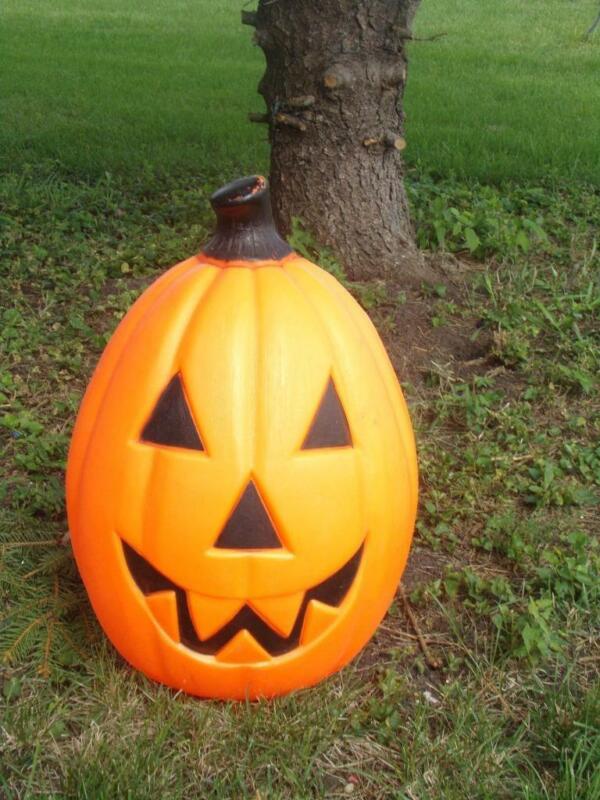 "Vintage Halloween Pumpkin Jack-O-Lantern  Blow Mold 22 1/2"""