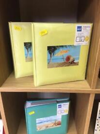 Yellow photo albums x3.