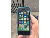 Blue iPhone 5c 16 gig with charger on 02 price 80 no offers
