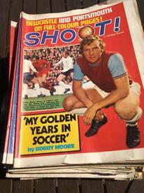 Shoot footballs magazines 69-70