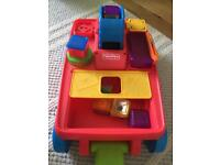 Fisher Price Pull Along Truck with Blocks, Flashing Lights and Music