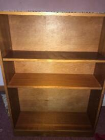 Wooden shelving unit.
