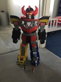Imaginext large power ranger with figures - lights and sounds work