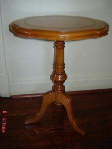 Beautiful Antique Solid Cherry Round Side Table